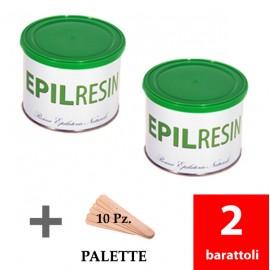 2 barattoli resina epilatoria naturale Epilresin