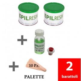 2 latas Epilresin + 1 loción retardante + 10 paletas