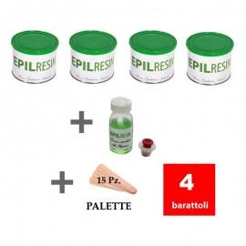 4 barattoli + 1 lozione ritardante Epilresin